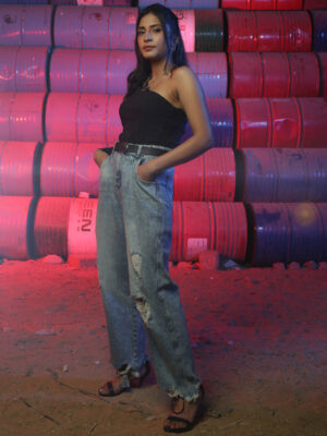 Ripped Balloon Jeans